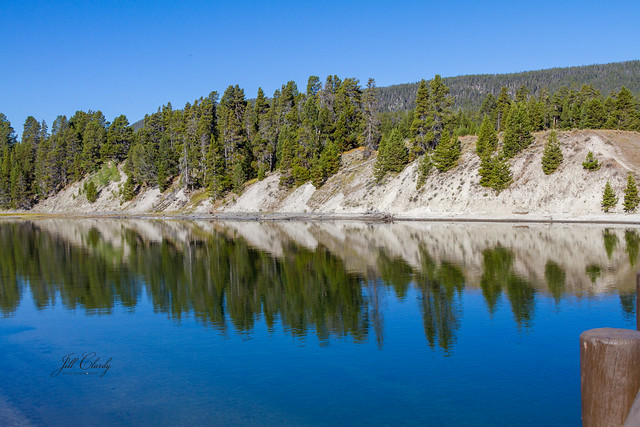 Armchair Traveling - Reflections in Yellowstone Lake