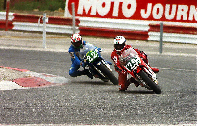 Wayne Rainey (29) et Fausto Ricci (22) 1984