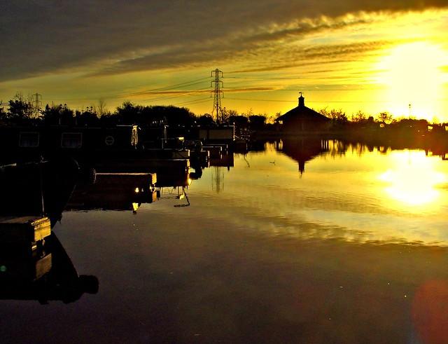 Lancaster Canal Marina at Baron Grange, Lancashire