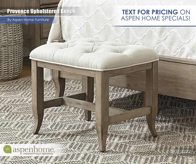 Provence Upholstered Bench_TextForPricing