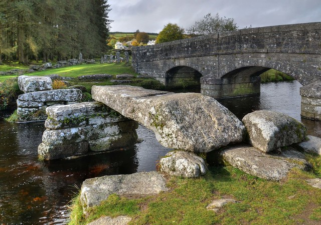 Clapper Bridge at Bellever, Dartmoor (Explored)