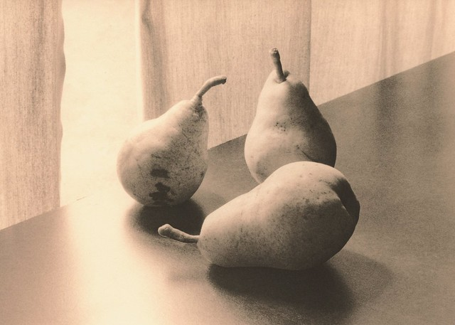 455 - Pears in Window Light - Lith Print