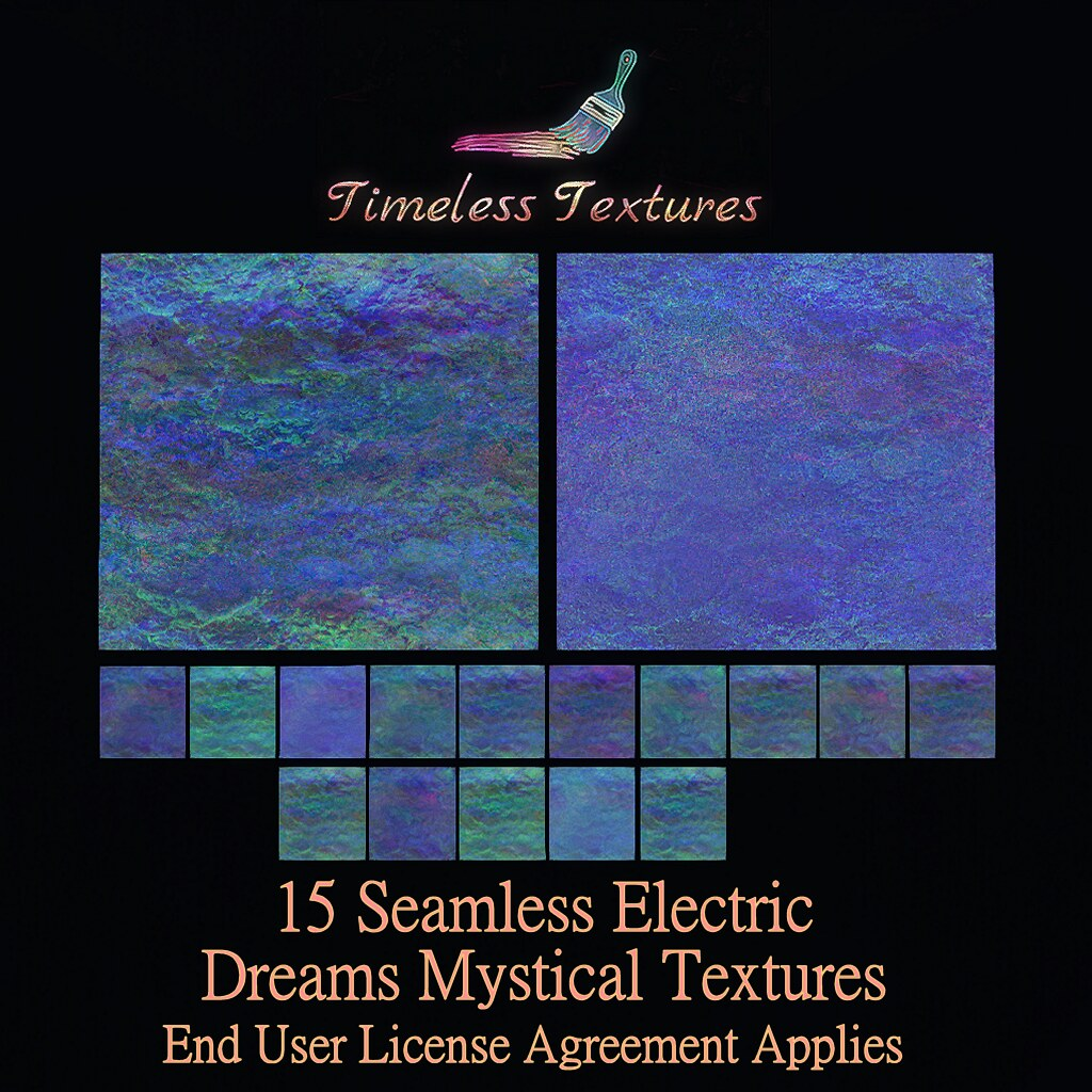 TT 15 Seamless Electric Dreams Mystical Timeless Textures