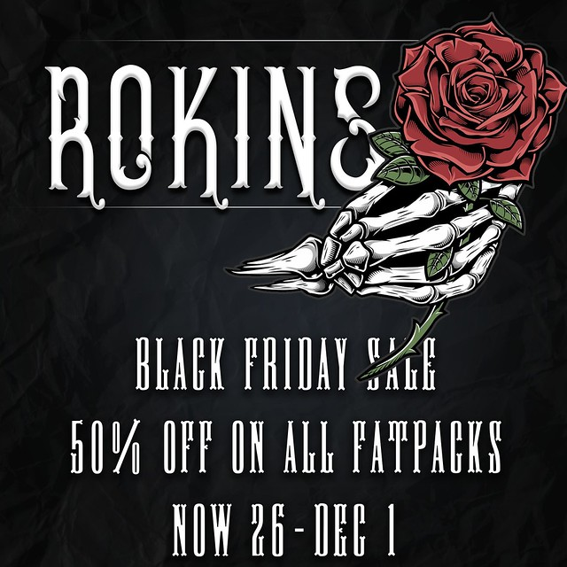 black friday sale 50% off on all fatpacks now 26-dec 1
