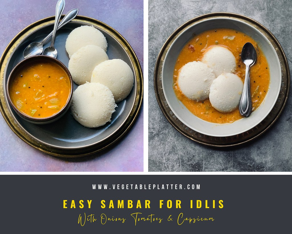 Sambar Recipe for Idlis