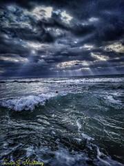 Playa de Gavá. Día de tormenta. Gava Beach. Stormy day.