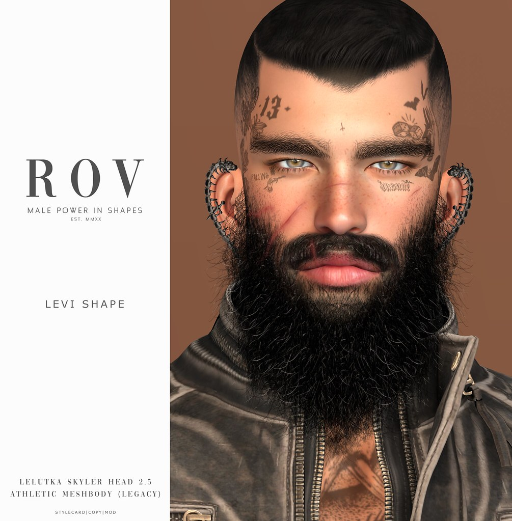 R O V                      Levi for LeLUTKA Skyler Head 2.5