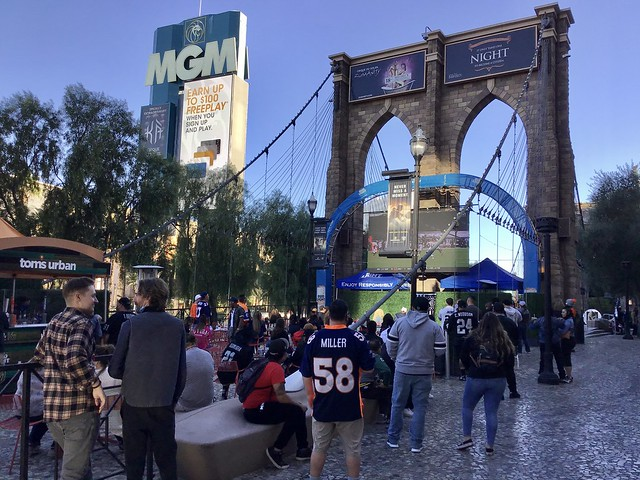 Living Las Vegas NFL Style — Sunday/Day One — NFL Watch Parties At Tom's Urban and at Nine Fine Irishmen Patio Bar — The New York-New York Hotel & Casino — Las Vegas 2020