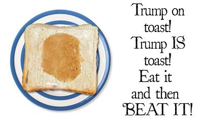Trump on toast