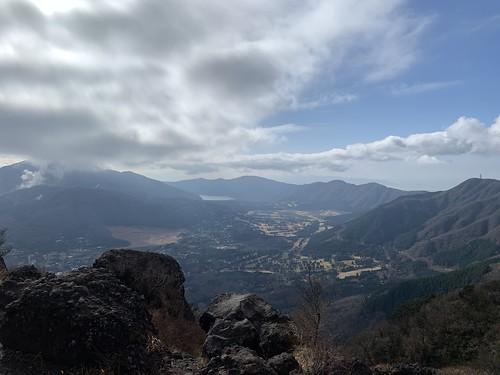 金時山頂から箱根方面の眺望