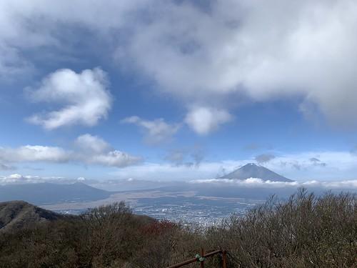 金時山頂から御殿場方面の眺望