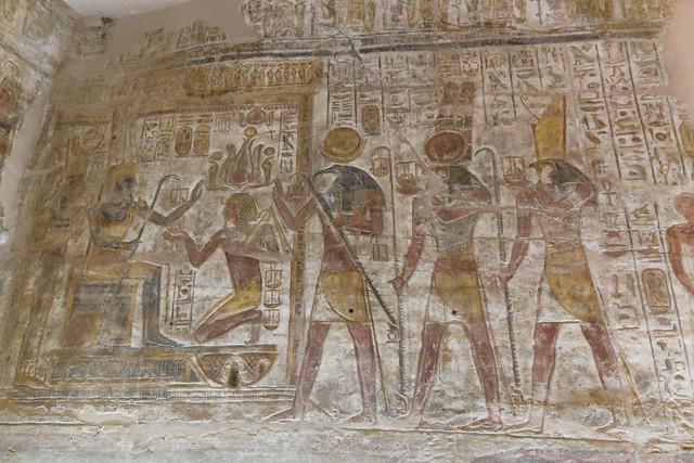 Ramesses II Kneels Before Amun