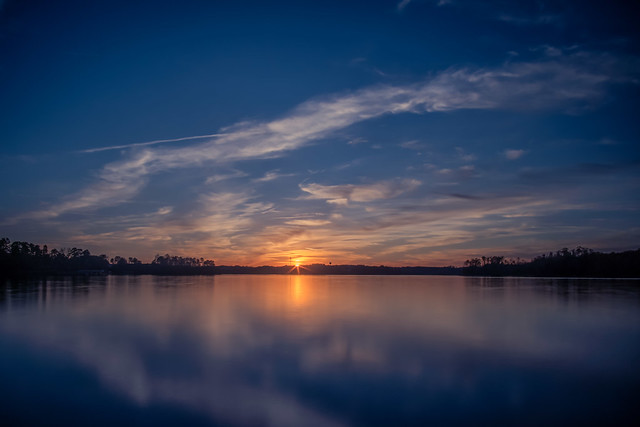 Sunset at Lake Hartwell in Clemson, SC