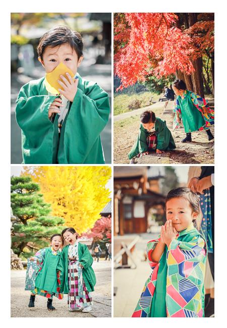 永保寺で七五三の前撮り 紅葉シーズン 岐阜県多治見市