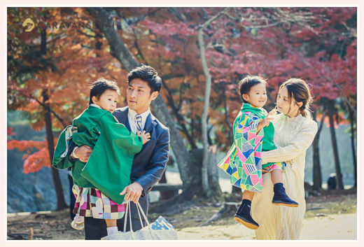 兄弟そろっての七五三 永保寺で七五三の前撮り 岐阜県多治見市