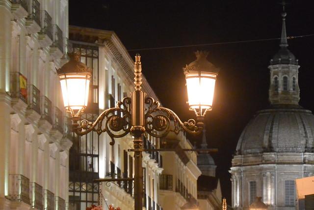 street lamp at night