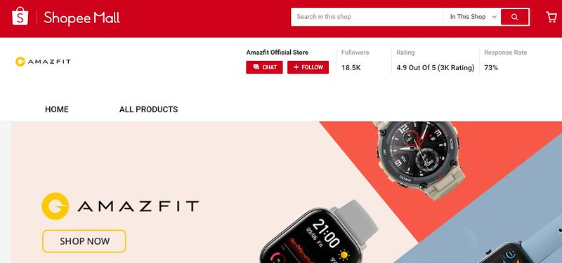 Amazfit BIP U Smart Watch Now in Shopee