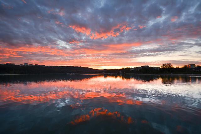 Sunset on the lake. Explored 27.11.20