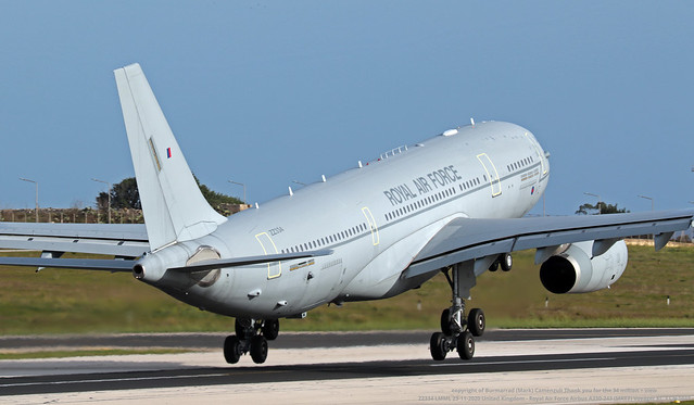 ZZ334 LMML 23-11-2020 United Kingdom - Royal Air Force Airbus A330-243 (MRTT) Voyager KC.3 CN 1033