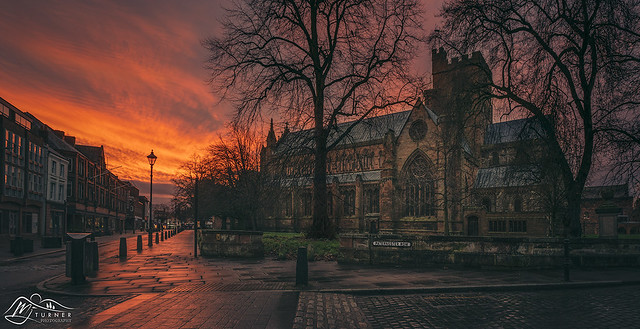 Carlisle Cathedral & Castle Street from Paternoster Row