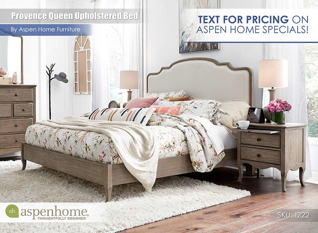 Provence Queen Upholstered Bed_TextForPricing