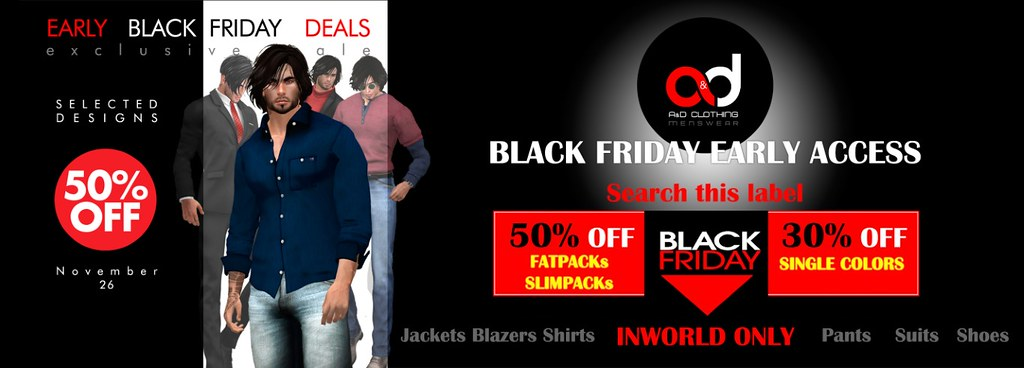 A&D Clothing - Black Friday Early Acces
