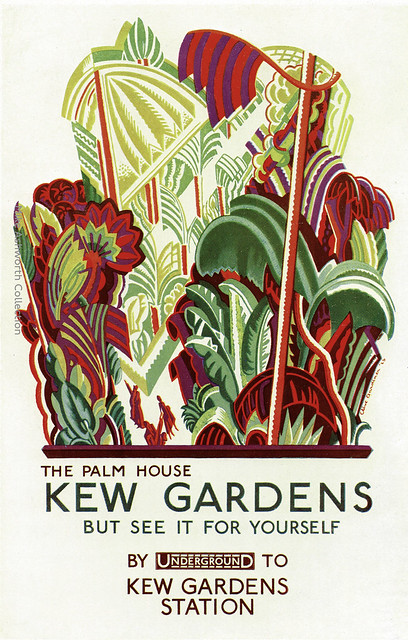 The Palm House - Kew Gardens : poster by Clive Gardiner issued by London  Underground, 1926