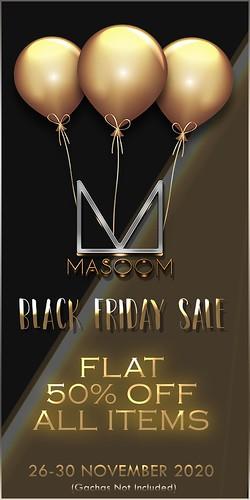 MASOOM Black Friday Sale 2020