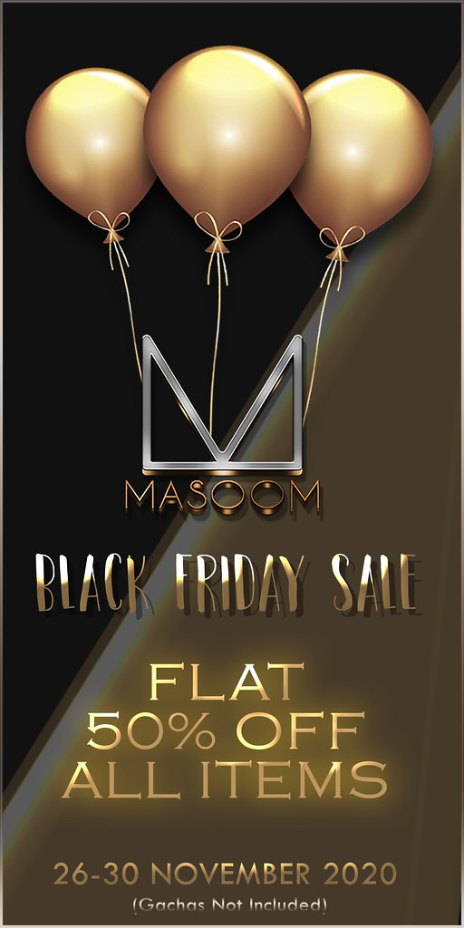 MASOOM Black Friday Sale 2020