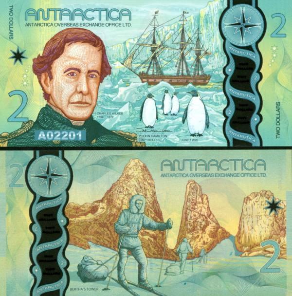 2 Doláre Antarktída 1.6.2020 polymer