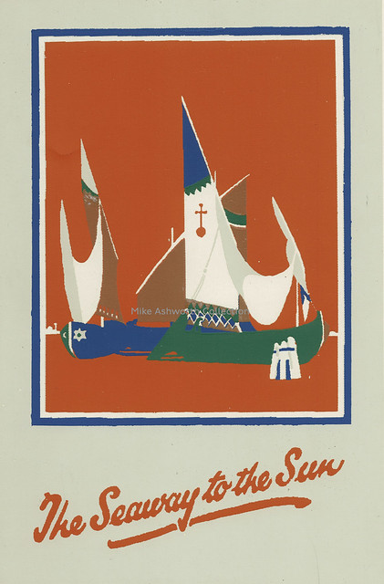 The Seaway to the Sun : brochure cover for the Orient Line, c1928