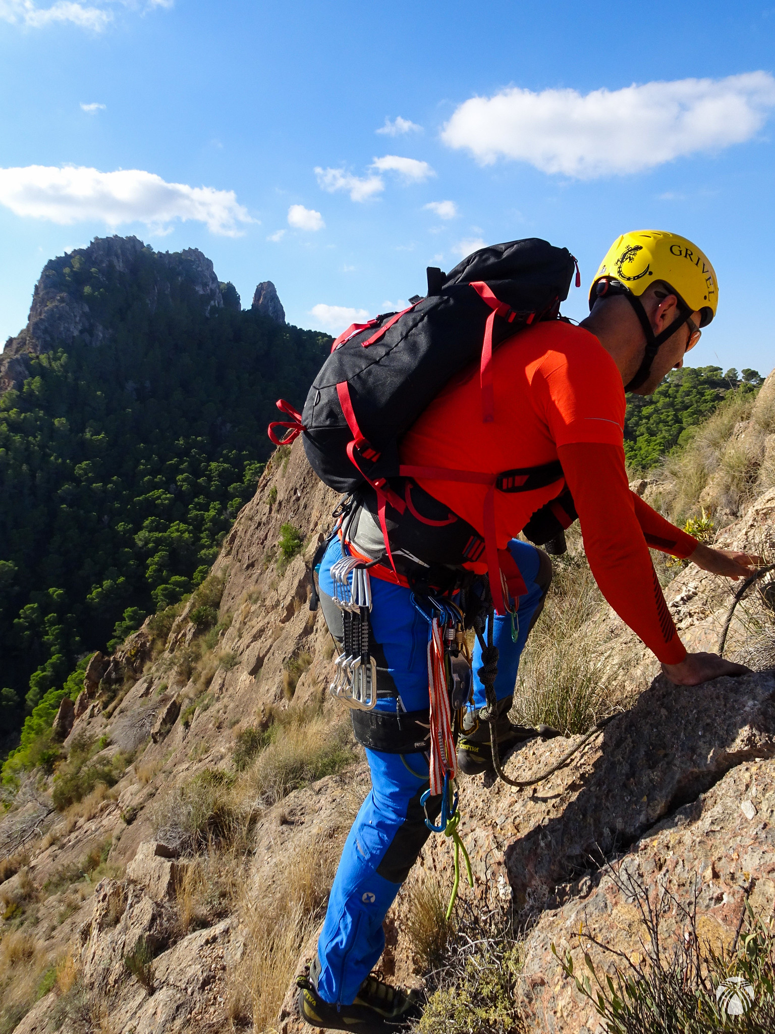 Últimos metros hasta la cumbre con la Panocha al fondo