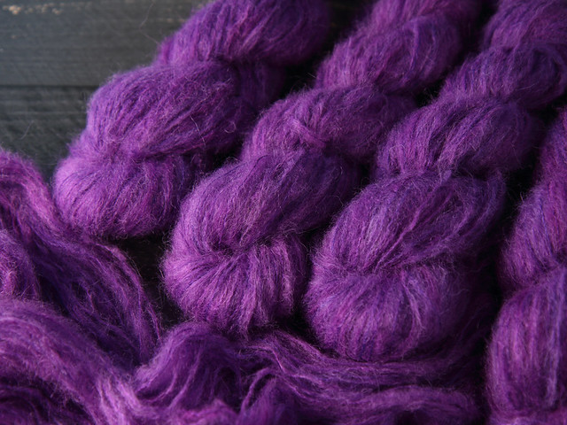 Fuzzy Lace – Brushed Baby Suri Alpaca & Silk hand dyed yarn 25g – 'Jewel'