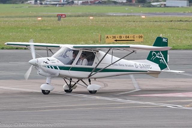 G-SAMC - 2012 build Comco Ikarus C42 FB80 Bravo, shortly after arrival at Gloucester