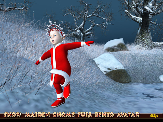 Snow Maiden Gnome Full Bento Avatar