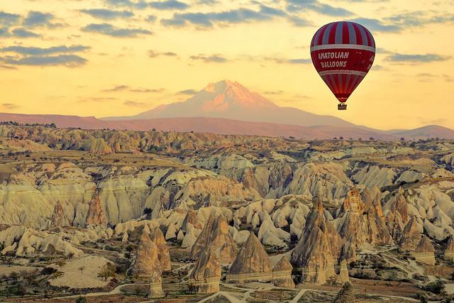 Kapadokya, Erciyes Dağı ve Balon