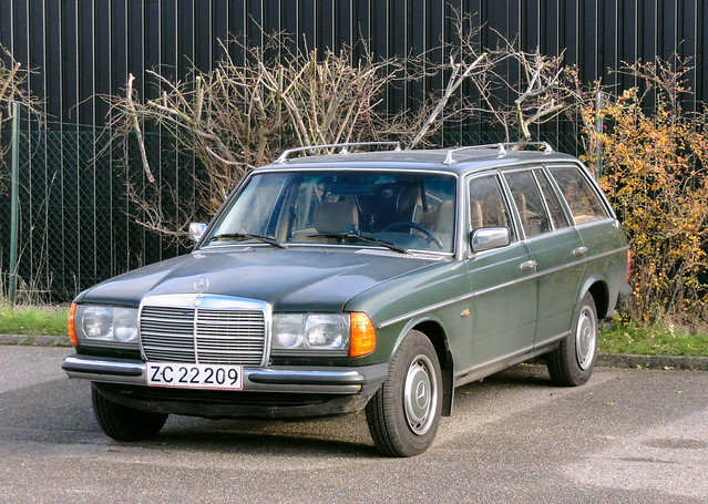 1983 Mercedes 230TE ZC22209 still on the roads of Denmark