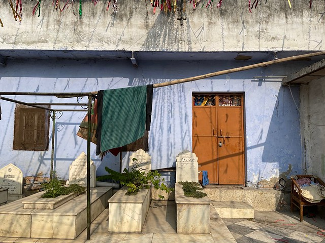 City Landmark - Blue Wall, Sheikh Kaleemullah Jehanabadi's Sufi Shrine