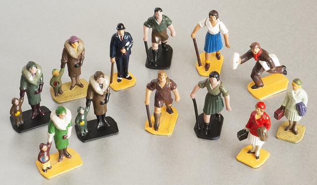 Somerville Railway Passenger Figures. Made From Original Dinky Toys Pre-war Moulds