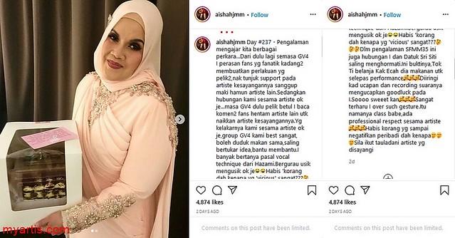 Dituduh Jual Hadiah Siti Nurhaliza Ke Pajak Gadai, Aishah Luah Rasa Berang