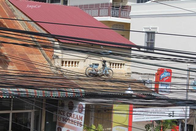Se vive  en este caos. Cambodga