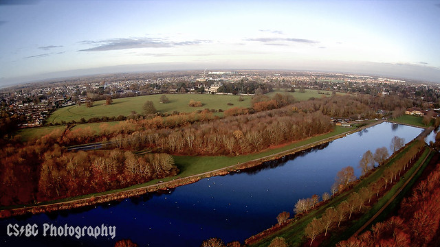 Thorpe Meadows from the air