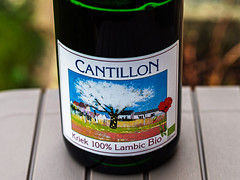 Close Up - Label -  Bottle of Cantillon's Kriek - a 6% Lambic from Berlgium (Olympus OM-D EM1.3 & Leica Nocticron 42.5mm f1.2 Prime) (1 of 1)