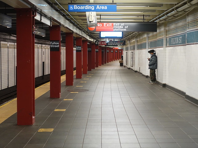 202010150 New York City subway station 'Fulton Street'