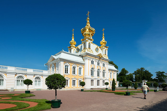 Grand Peterhof Palace. Peter and Paul Church