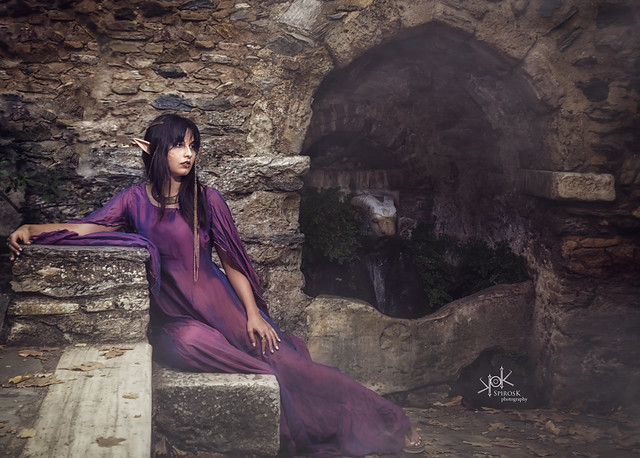 Fantasy: Irini's Forest Elf at the water spring, part I (by SpirosK photography)