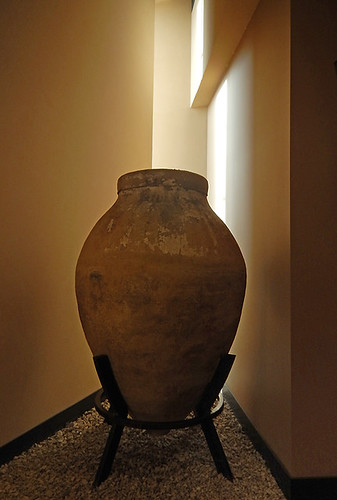 Large vase in the Mission Hill Winery