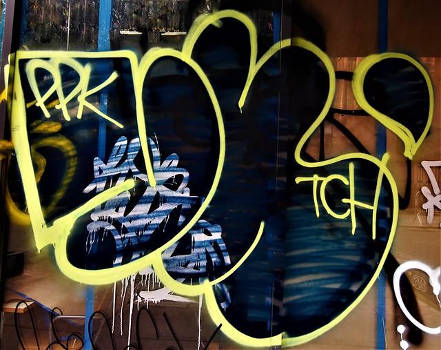 Graffiti. Lower Manhattan. PPK. TCH. or TGH