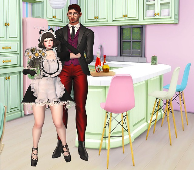 My love and me in the kitchen