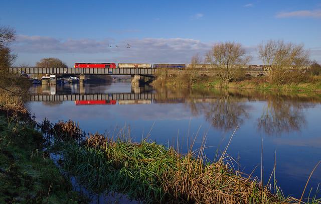 60001 At Sawley Lock. 26/11/2020.